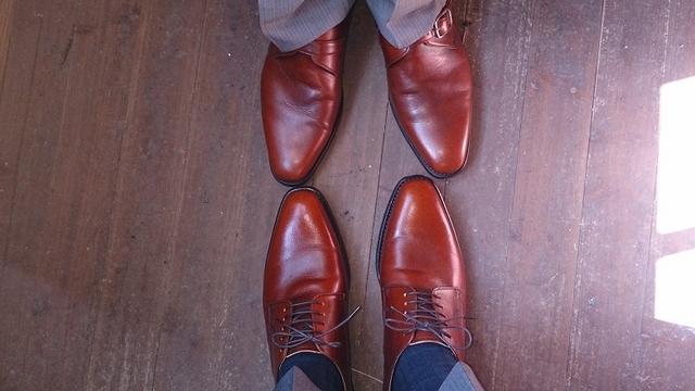 靴かぶってません。