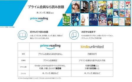Amazon 「Prime Reading」
