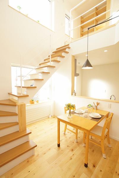 開放的なリビング階段