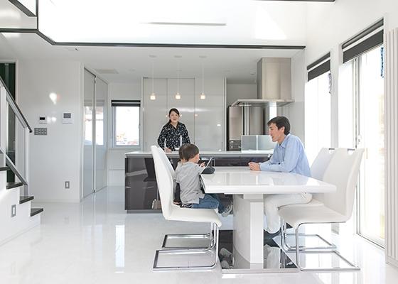 モダンデザインの快適な家